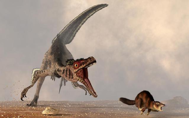 velociraptor-chasing-small-mammal-daniel-eskridge